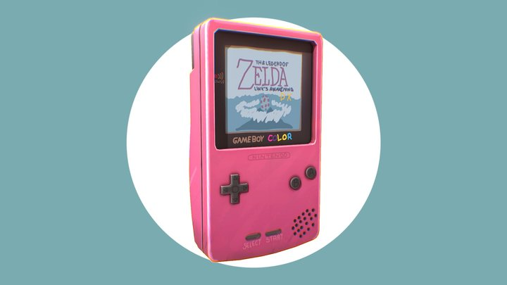 GameBoy Color - #GameBoyChallenge 3D Model