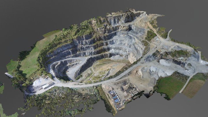 Cantera a cielo abierto en Pol con Phantom 3 adv 3D Model
