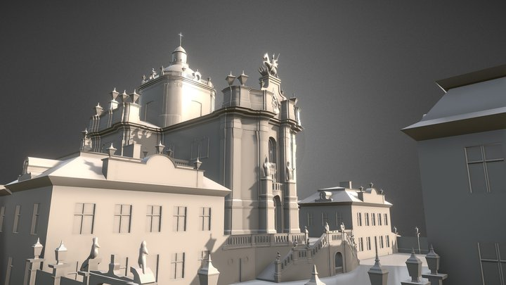 Baroque Cathedral 3D Model