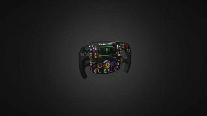 Ferrari SF70H Steering Wheel 3D Model