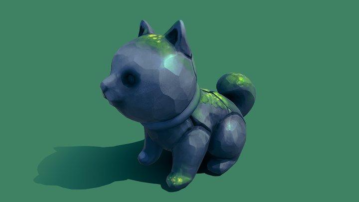 Stone Shiba 3D Model