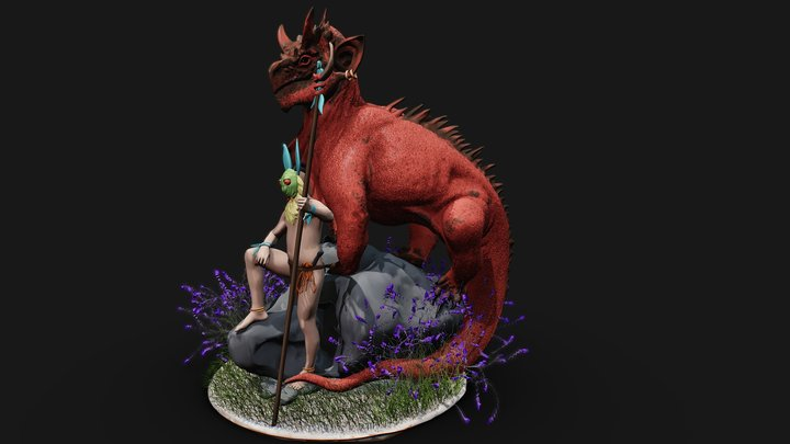 Dragon Rider 3D Model