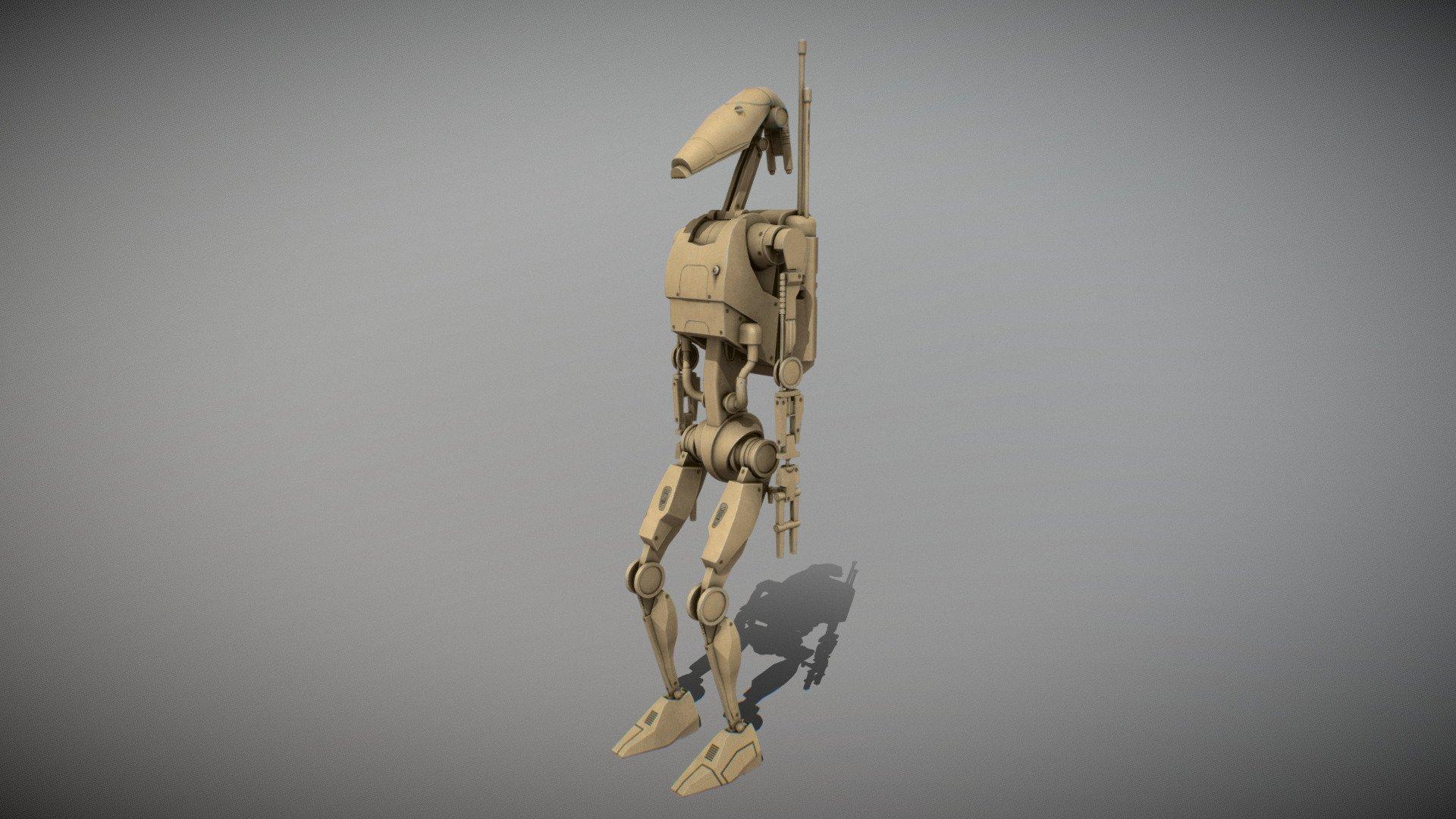 Star Wars B1 Battle Droid Download Free 3d Model By Eknightger Eknightger D353133 Sketchfab