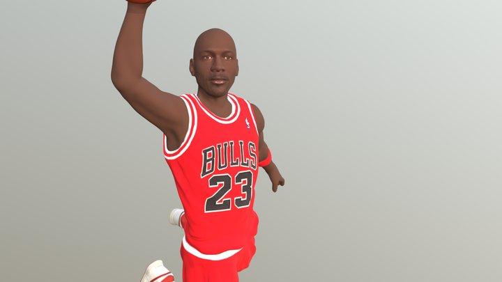 Michael Jordan for full color 3D printing 3D Model