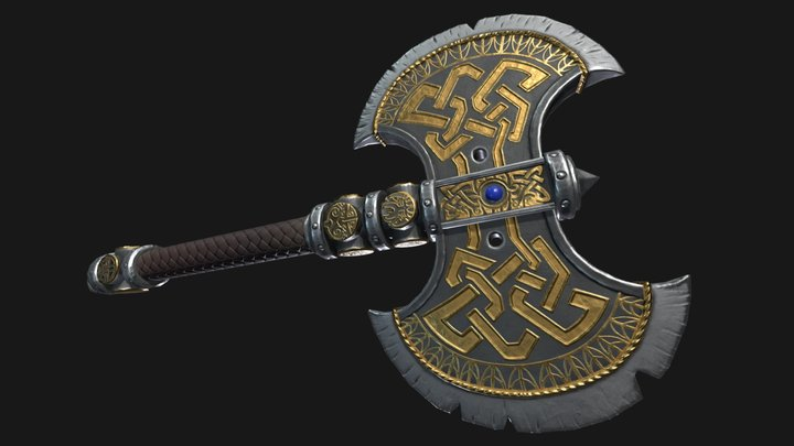 Warhammer Axe 3D Model