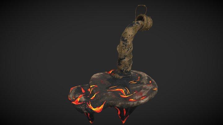 Stylized Bucket Life 3D Model