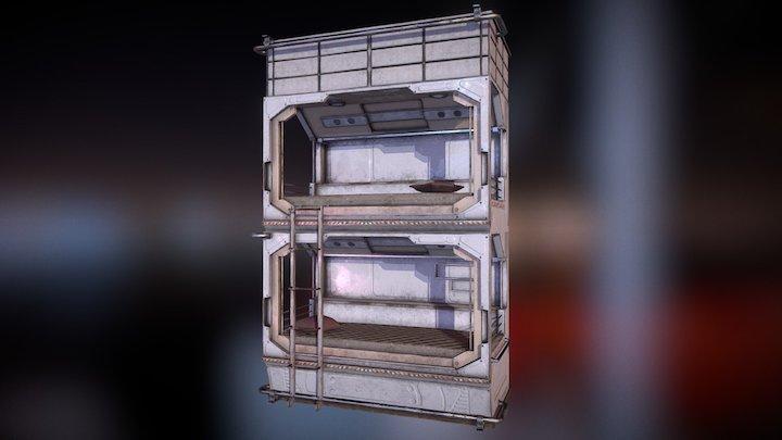 Sci-Fi bunk bed 3D Model