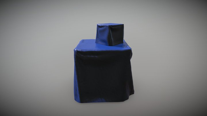 Stacked Tarp And Crate (cloth sim practice) 3D Model