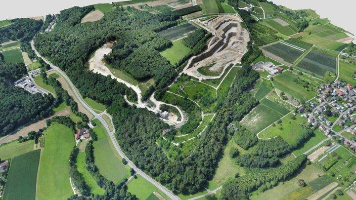 Kalksteinbruch Istein - Juli 2021 - by WWL 3D Model