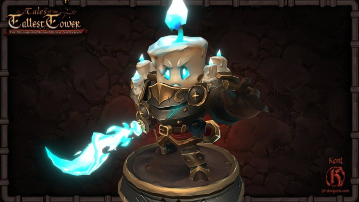 Candle Knight 3D Model