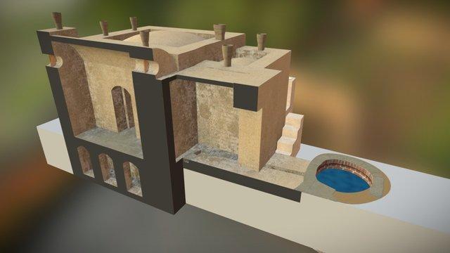 Karanis Bath Section 3 3D Model
