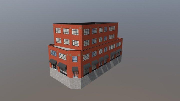601 Bank Street - Brick Facade Option 3D Model