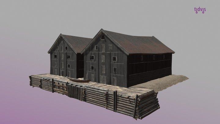 Wharf building in Oslo, 1798 3D Model