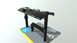Accesible bus stop prototype 3D Model