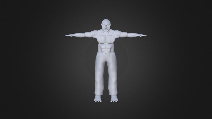 Lutador Profissional Michael jai white 3D Model