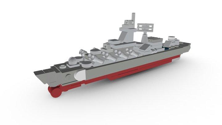 LEGO Slava Class Cruiser MOC 3D Model