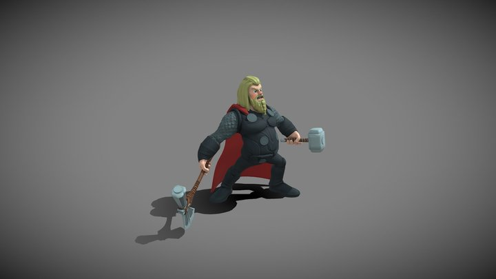 Fat Thor (Disney Infinity Style) 3D Model