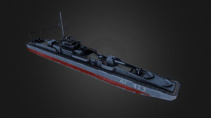 Marinefährprahm AF 413 3D Model