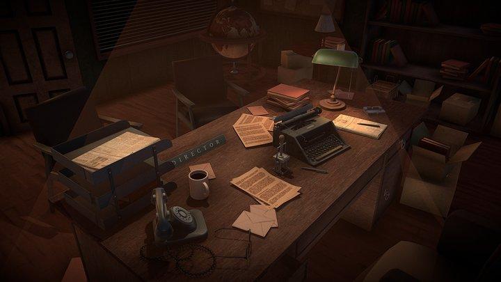 Boss Office (60's) 3D Model