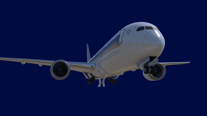 Boeing 787-9 Singapore Airlines 3D Model