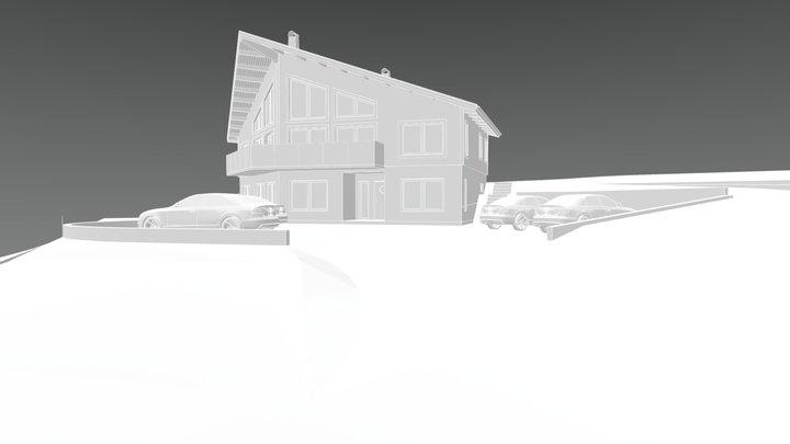 Åre Hus med mark 3D Model