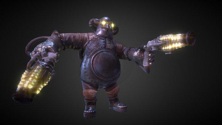 Raven Fracas 3D Model