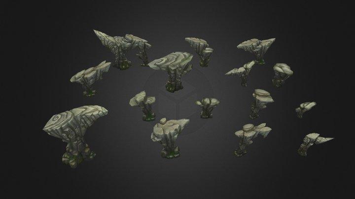 Rock Formation Pack 1 3D Model
