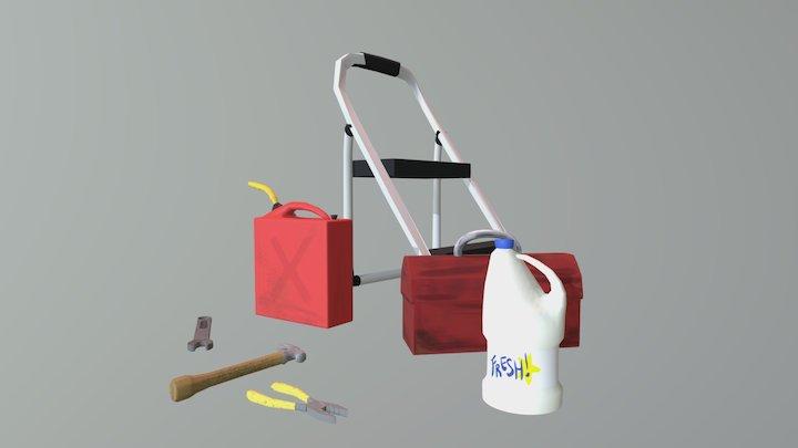 Garage Items 3D Model