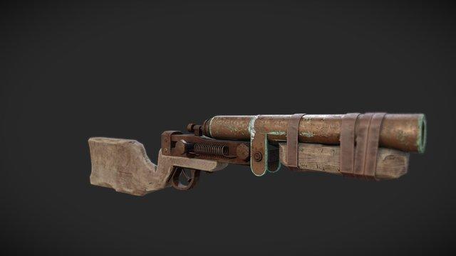 Rust shotgun fanart 3D Model