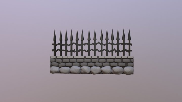 GraveDug Fence 3D Model