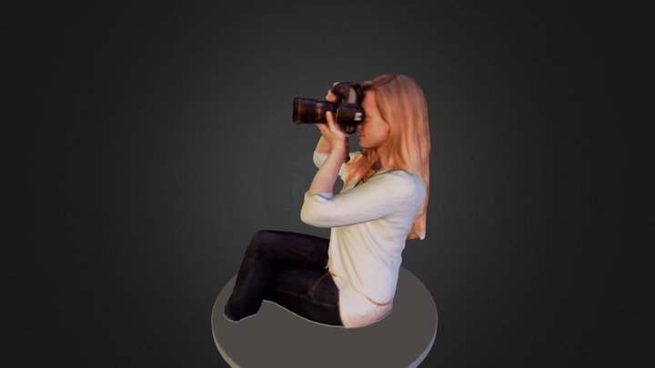 Girl with camera 3D Model
