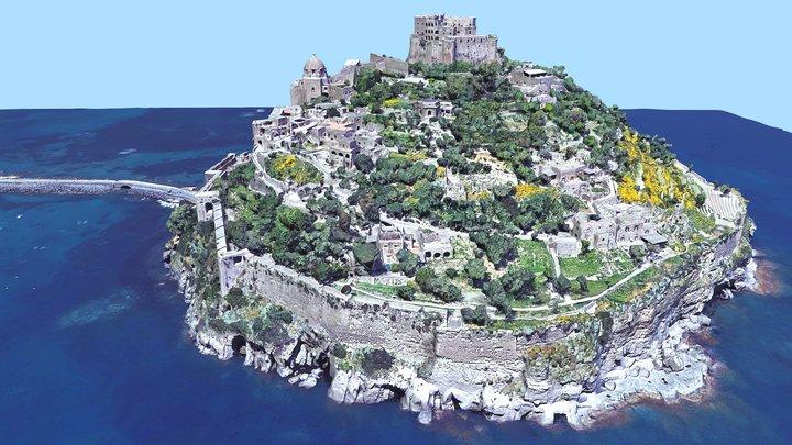 Aragonese Castle, Castello, medieval, Italy 3D Model