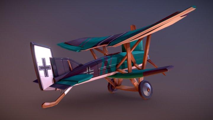 Stylized WWI Junkers J.I plane 3D Model