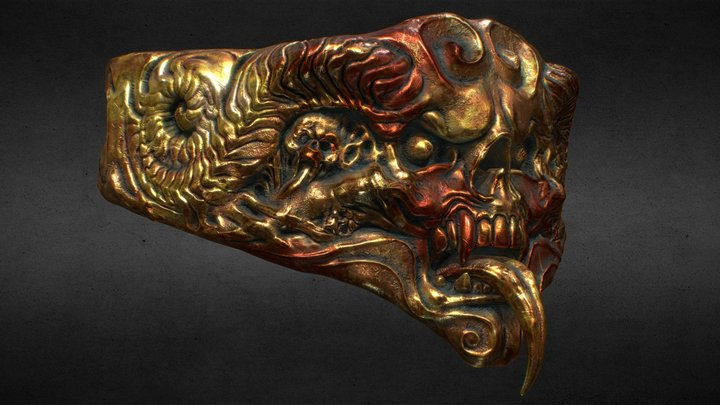 Chaos Belly Plate 3D Model