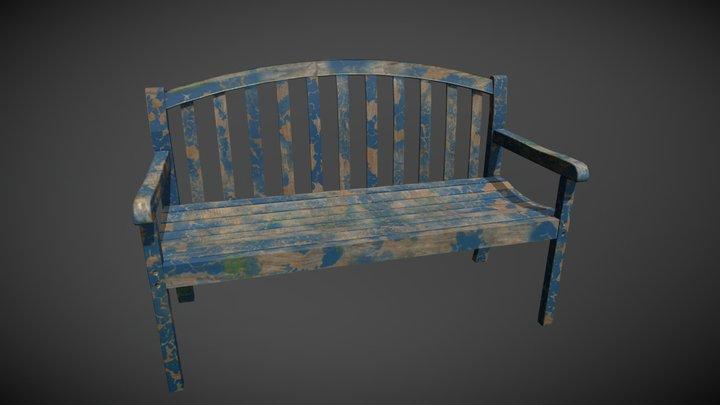 Old_Bench_UE4 3D Model
