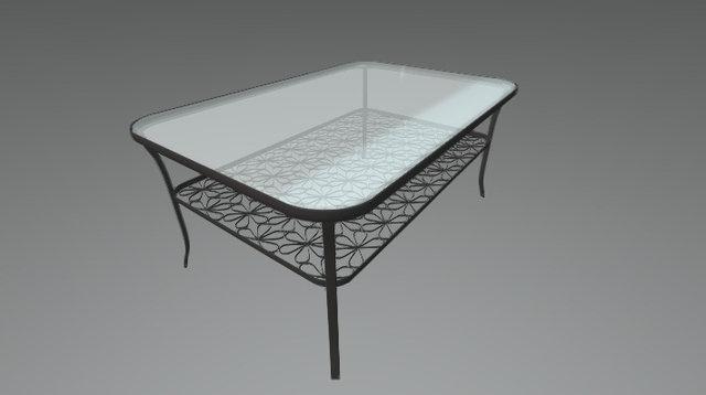 IKEA coffe table KLINGSBO 3D Model
