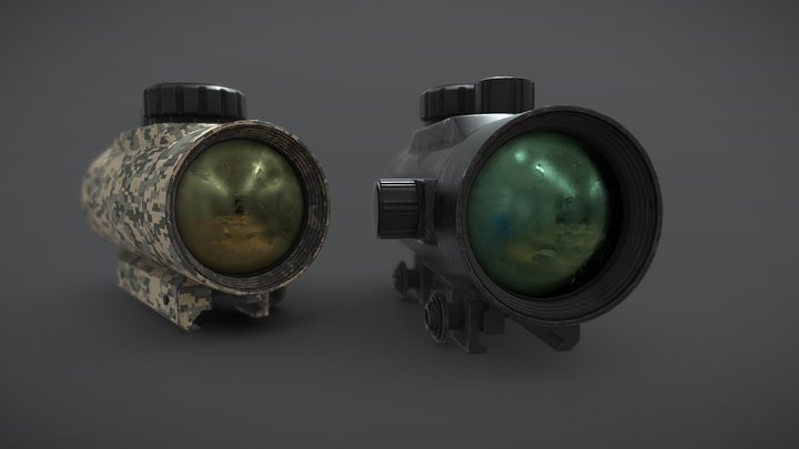 Red Dot Sight 1x45 3D Model