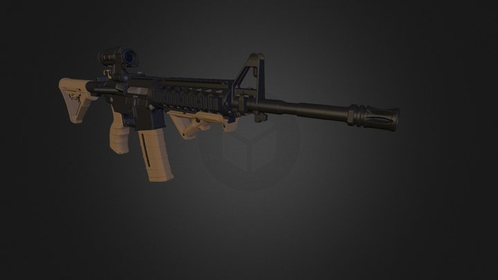M4 Wip 3D Model