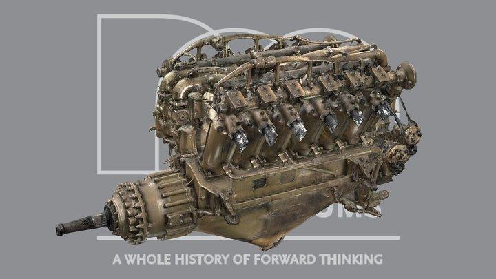 Rolls-Royce Eagle Aero Engine 3D Model