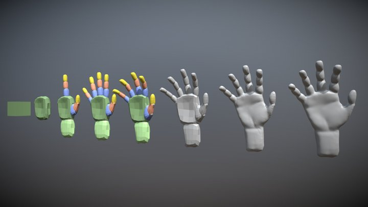 Blocking Hand 3D Model