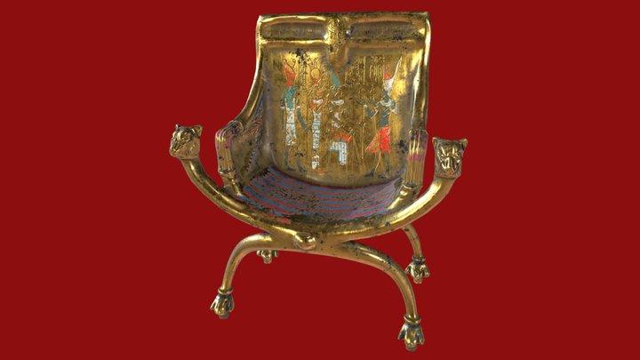 Golden Ancient Egyptian Throne 3D Model