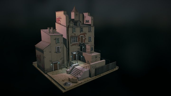 Somewhere in district 3D Model