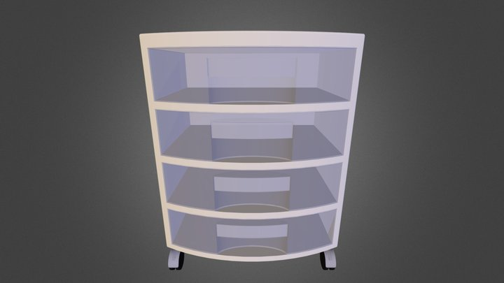Plastic Drawer Organizer 3D Model
