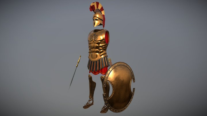 Ancient Greek Armor 3D Model