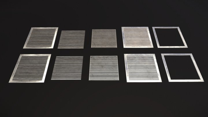 Floor Grate Small Pack [Free] 3D Model