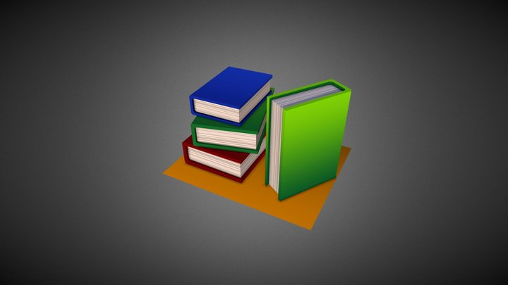 Books #HouseholdPropsChallenge 3D Model
