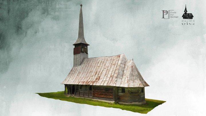 Biserica de lemn de la Răstolțu Deșert 3D Model