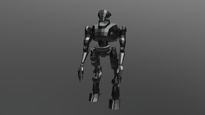 Robot Rig and Animations 3D Model