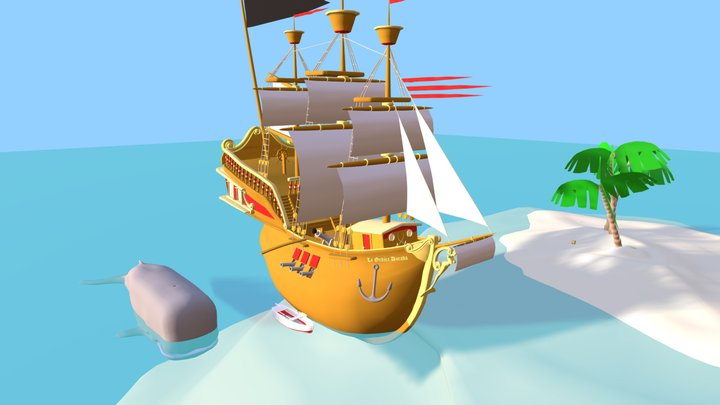 Pirateship 3D Model
