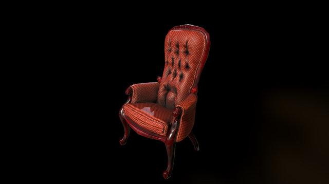 Armchair Low 001 3D Model